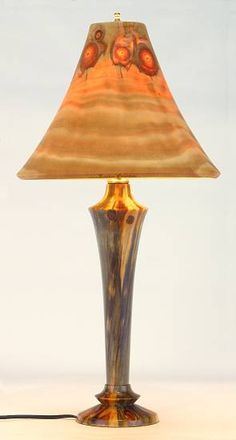wood turned lamp