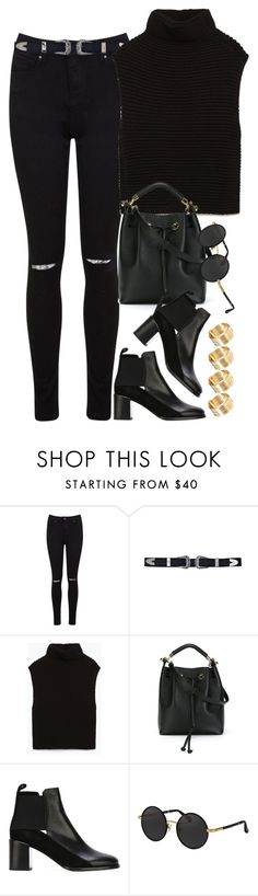 """""""Sem título #1032"""" by oh-its-anna ❤ liked on Polyvore featuring Miss Selfridge, Zara, Chloé, See by Chloé, The Row and ASOS"""