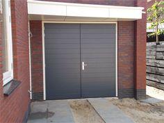 Garagedeuren deventer : HNS Alutherm met horizontale groeven Garages, Outdoor Decor, House, Garage, Garage Doors, Home, Front Door, Home Styles, Home Decor