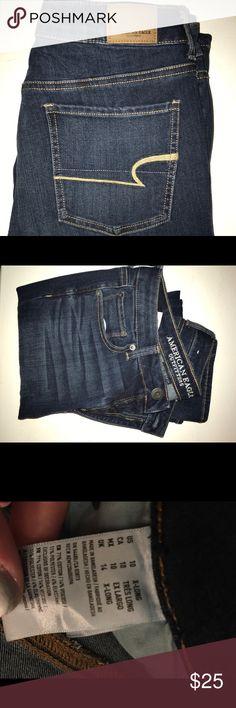 american eagle jeans 10 xlong  high rise straight  worn once American Eagle Outfitters Jeans Straight Leg