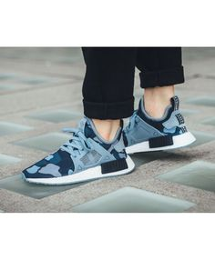 6ef2ea3d7870 Chaussure Adidas NMD XR1 Duck Camo Minuit Gris Noble Encre Bleu Chaussures  Adidas
