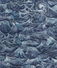 Liberty Art Fabrics Ocean B Tana Lawn Cotton