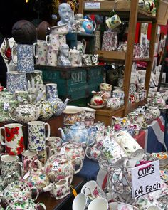 Wish I was standing there right now picking out a new teapot! :-) Portobello Road Market