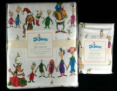 POTTERY BARN KIDS DR. SEUSS GRINCH WHO STOLE CHRISTMAS TWIN DUVET + STD SHAM NEW #PotteryBarnKids