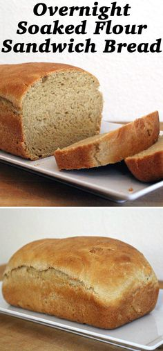 This Soaked Flour Sandwich bread is healthier than regular bread, in that its flour soaks overnight before baking.