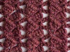 crochet stitch - sidesaddle cluster
