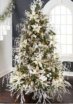 Sneak peek at some of the 2014 RAZ Christmas Trees....Arctic Palace