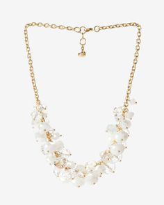 Cluster bead necklace - White | Jewellery | Ted Baker UK