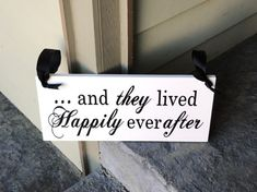 Here Comes the Bride Sign with And they lived Happily ever after. Wedding, Marriage Sign. 8 X 16 inches, 2-Sided. Ring Bearer, Flower Girl.