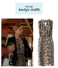 "Emily Thorne's (Emily Van Camp) animal print dress | Revenge – ""Execution"" (Ep. 322)"