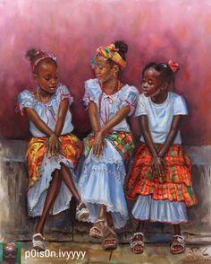 Art from St. Black Love Art, Black Girl Art, My Black Is Beautiful, Black Girls, Art Girl, Black Women, Black Art Pictures, Caribbean Art, Drawn Art