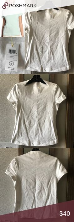 Saturday Kate Spade Slip Neck Cap Sleeve Shirt Sm Saturday Kate Spade Slip Neck Cap Sleeve Thick T-Shirt Size Small New with tags Fast shipping  Thanks for looking! kate spade Tops Tees - Short Sleeve