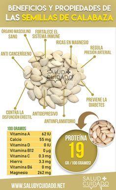 BENEFICIOS DE LA SEMILLA DE CALABAZA PARA EL HOMBRE Y LA MUJER ¿ES TAN BUENA COMO DICEN? ¿PARA QUÉ SIRVE? ¿COMBATE LA DISFUNCIÓN ERÉCTIL Y PROTEGE EL MIEMBRO MASCULINO? #salud #beneficios #saludycuidado #saludable #alimentos #propiedades #alimentacion #infografias #infografia