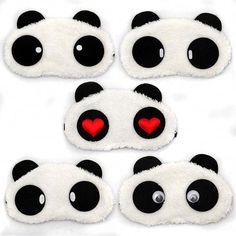 1 stücke Schlafaugenmaske Niedlichen Panda Nickerchen Auge Schatten Cartoon augenbinde Schlafen Maske Augen Abdeckung Schlaf Reise Rest Entspannende Hilfe werkzeuge