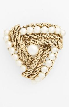 St. John Collection Chain & Glass Pearl Brooch available at #Nordstrom