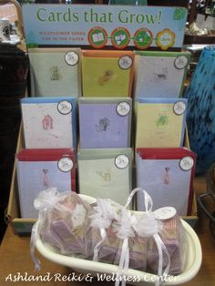 Greeting Cards that grow! Wildflower Seeds, Wellness Center, Reiki, Meditation, Greeting Cards, Crafting, Gift Wrapping, Street, Paper