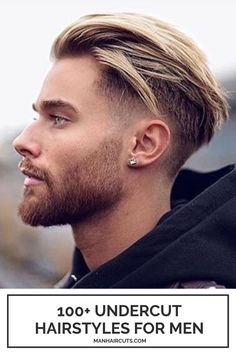 This list of 100+ undercut hairstyles for men is a good starting point to start your journey in exploring two-levels haircuts. Either you have thin, thick, straight or curly hair, there is an undercut hairstyle for every man out there. #undercuthairstylesformen #menhairstyles #menhaircuts #undercutformen #menundercut #manhaircuts Trending Hairstyles For Men, Trendy Mens Hairstyles, Cool Mens Haircuts, Easy Hairstyles For Medium Hair, Undercut Hairstyles, Cool Hairstyles, Hairstyle Ideas, Hairstyle Men, Glasses Hairstyles