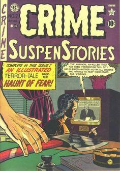 Terror-tale From The Haunt Of Fear - Tv - Purple Drapes - Hatchet - Ink - Gloria Best Comic Books, Vintage Comic Books, Vintage Comics, Comic Books Art, Crime Comics, Ec Comics, Horror Comics, Horror Art, Classic Horror Movies
