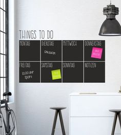 Wandtattoo für's Homeoffice: Dein Wochenplaner für Zuhause, To-Do Liste als Wohndeko / wall tattoo for yourhomeoffice: your weekly planner, to-do list as wal ldecor made by wandtattoo-home via DaWanda.com
