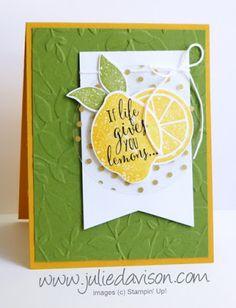 Julie's Stamping Spot -- Stampin' Up! Project Ideas by Julie Davison: Lemon Zest Catalog CASE Stampin Up Catalog, Embossed Cards, Bird Cards, Copics, Halloween Cards, Stamping Up, Homemade Cards, Stampin Up Cards, Making Ideas