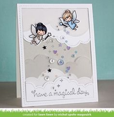 Lawn Fawn clear acrylic stamps - FAIRY FRIENDS #LawnFawn #clear