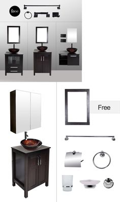 Picture Gallery Website Vanities In Bathroom Vanity Cabinet Sink Faucet Drain Bath Accessory Mirror Combo