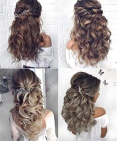 Long wedding hairstyles 2019 You are in the right place about long bob hairstyles grey Here we offer Long Bob Haircuts, Long Bob Hairstyles, Wedding Hairstyles For Long Hair, Trending Hairstyles, Wedding Hair And Makeup, Bride Hairstyles, Bridal Hair, Pretty Hairstyles, Curly Hair Updo Wedding