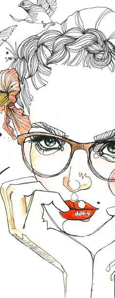 Colibri - Sara Ligari # arte # ilustração