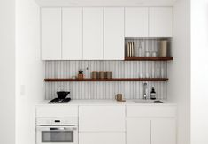 Tiny White Kitchen by Denise Lee