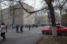lots of pro-russian activists