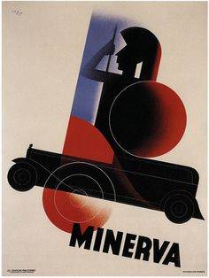"""PG336 """"Minerva cars"""" Poster by Leo Marfurt (1931)   photo credit: user »kitchener.lord« (http://www.flickr.com/photos/27862259@N02/), found on the website: http://www.flickr.com/photos/27862259@N02/6969617177/"""