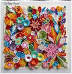 Arte Quilling, Origami And Quilling, Quilling Paper Craft, Quilling Flowers, Paper Crafts Origami, Paper Flowers, Paper Quilling Tutorial, Paper Quilling Patterns, Quilled Paper Art