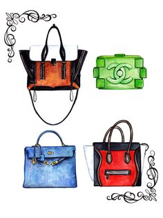 different bags Fashion Sketches 1f9dc564e5b79