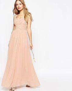 ASOS WEDDING Ruched Panel Maxi Dress