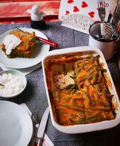 Ti is imádjátok a rakott zöldbabot? Palak Paneer, Baking Recipes, Mashed Potatoes, Curry, Keto, Cooking, Ethnic Recipes, Street, Kitchen