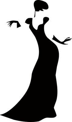 Kadın, Siluet, Bayan, Dans, Elbise, Vücut, Şekil