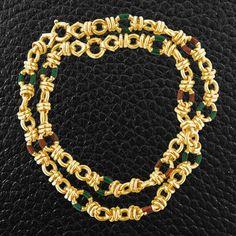 Gold & Enamel Estate Necklace