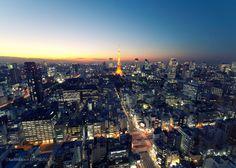 Tokyo City photography,original Tokyo Tower art print night photo dusk picture evening wall art sunset print cityscape décor by KaleidoscopesPHOTO2 on Etsy