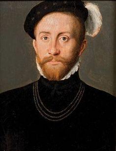 Ecole Française, vers 1550. Portrait d'un homme barbu portant un chapeau à plume. Photo: Christie's Images Ltd., 2009.