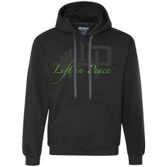 Lift In Peace (Green) Fleece Hoodie