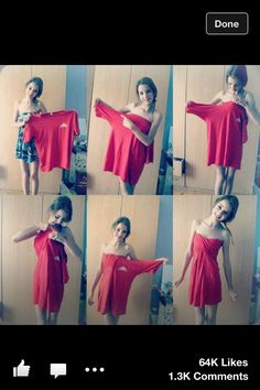 Cute idea especially for those huge tshirts u steal from your boyfriend or husband!!!