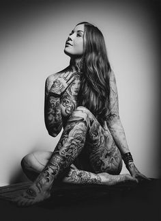 @MarLa Mitchell--had to do a double take!  It's an inked up YOU!   Ebba Cronstedt by Alexander Koste