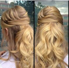 Half up hair do! Cute!