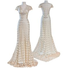 Claire Pettibone - Couture Bridal l Wedding Dresses, Bridal Gowns,... ($2,500) ❤ liked on Polyvore