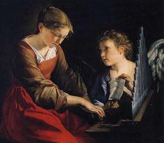 Saint Cecilia with an angel - Orazio Gentileschi