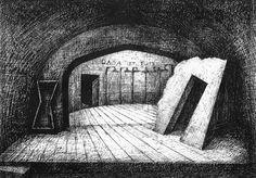 """Projekt scenografii do spektaklu """"Symfoniczna wazelina"""" - 2000 wersja 2"""