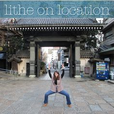 Lithe on Location!  Lither Lindsay Spatola was recently in Japan (I'm so jealous!) on a work trip.  Inspired by other Lithe on Location posts, she had her co-worker take a picture of her in wide second in front of a gate to a local shrine! Lindsay said that the resident grounds keeper was very amused.  I can see those imaginary bands in your hands! Great form.