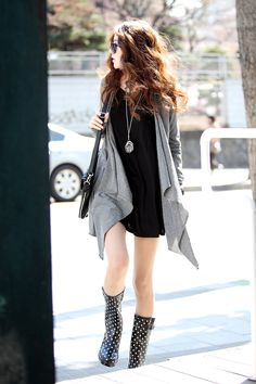 Love cardigans with the LBD. Casual sexy.