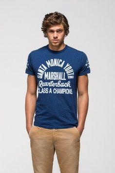 Men's T-shirt with Santa Monica Youth - Marshall - Quarterback print - T-shirt & Tops - MAN - Franklin & Marshall - Franklin & Marshall
