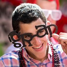 Who's the class clown? The one with the goofy grad glasses of course! The perfect prop for a grade A jokester!